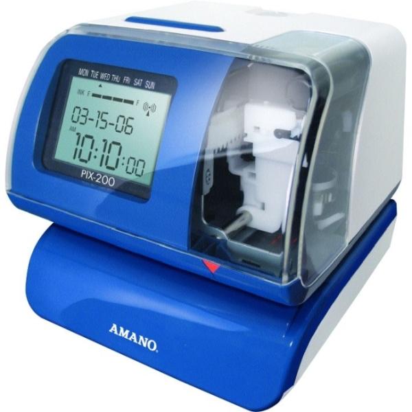 Amano Time Stamping Machine Pix 200 Amano Time Stamp