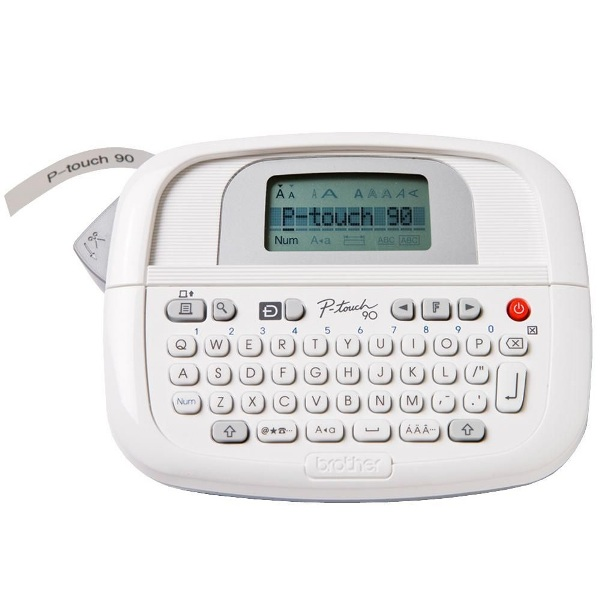 It is a picture of Agile Brother Model Pt 80 Label Maker Manual