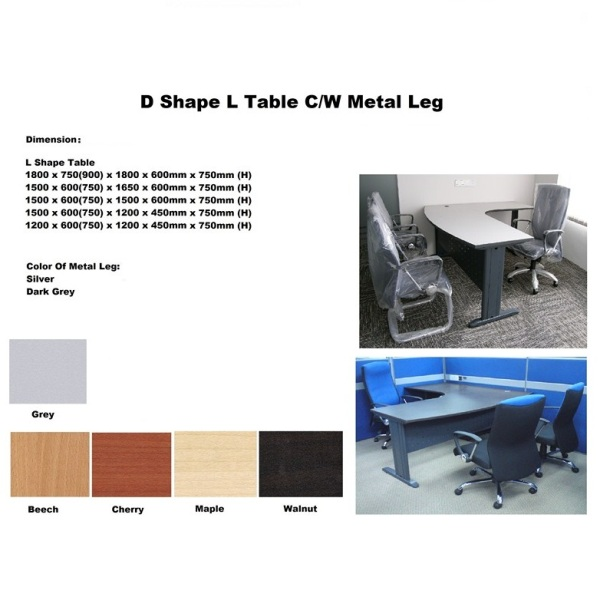 Brilliant Shape L Shape Table C/W Metal Leg 600 x 600 · 69 kB · jpeg